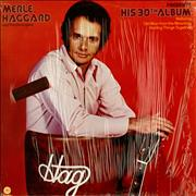 Merle Haggard Presents His 30th Album USA vinyl LP