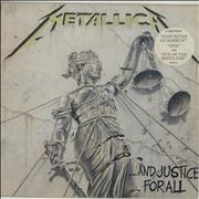 Metallica ...And Justice For All - Hype Stickered - EX UK 2-LP vinyl set