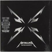 "Metallica Beyond Magnetic - Silver vinyl UK 12"" vinyl"