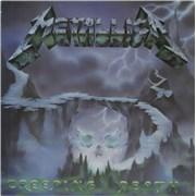 "Metallica Creeping Death - Black Vinyl - Patrick Swayze labels UK 12"" vinyl"