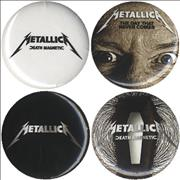 Click here for more info about 'Metallica - Death Magnetic - Set Of Four Badges'