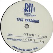 Metallica Kill 'Em All - Test Pressing USA vinyl LP