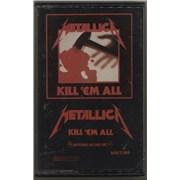 Metallica Kill 'Em All USA cassette album
