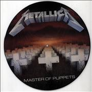 Metallica Master Of Puppets - 1st - EX UK picture disc LP