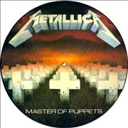 Metallica Master Of Puppets - With Barcode UK picture disc LP