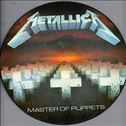 Metallica Master Of Puppets - With Barcode - EX UK picture disc LP