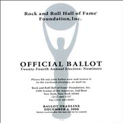 Click here for more info about 'Metallica - Official 2009 Rock And Roll Hall Of Fame Ballot Booklet'