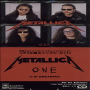 "Metallica One - Promo Stickered Japan 3"" CD single Promo"