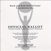Click here for more info about 'Metallica - Rock And Roll Hall Of Fame - Ballot Booklet'