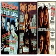 Click here for more info about 'Metallica - Set Of 3 Rolling Stone Magazines 1991-1996'