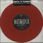 "Metallica Until It Sleeps - Red Vinyl UK 10"" vinyl"