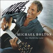 Click here for more info about 'Michael Bolton - One World One Love - Autographed'