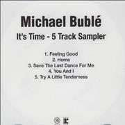 Click here for more info about 'Michael Buble - It's Time - 5 Track Sampler'