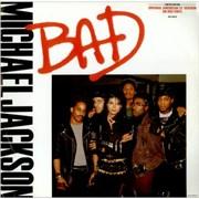 "Michael Jackson Bad - Red Vinyl - EX UK 12"" vinyl"