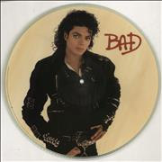 Click here for more info about 'Michael Jackson - Bad - Tea-Stained'