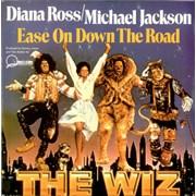 "Michael Jackson Ease On Down The Road UK 7"" vinyl"