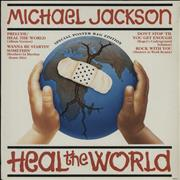 Click here for more info about 'Michael Jackson - Heal The World + Poster - VG'