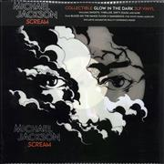 Michael Jackson Scream - Glow In The Dark Vinyl UK 2-LP vinyl set