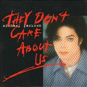 Michael Jackson They Don't Care About Us France CD single