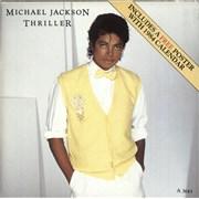 "Michael Jackson Thriller - Poster Sleeve UK 7"" vinyl"