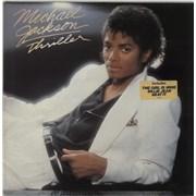 Michael Jackson Thriller - hype sticker Netherlands vinyl LP