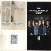 Click here for more info about 'Michael Schenker Group - 1983 Tour Programme + Ticket Stub & Press Clipping'