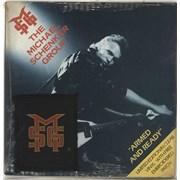 "Michael Schenker Group Armed & Ready - Clear vinyl + Patch UK 7"" vinyl"