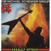 Michael Schenker Group Assault Attack UK vinyl LP