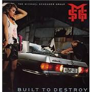 Michael Schenker Group Built To Destroy Germany vinyl LP
