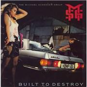 Michael Schenker Group Built To Destroy UK vinyl LP