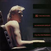 """Michael Schenker Group Cry For The Nations Japan 12"""" vinyl Promo"""