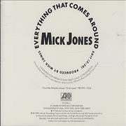 Click here for more info about 'Mick Jones (Foreigner) - Everything That Comes Around'