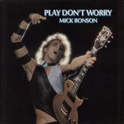 Click here for more info about 'Mick Ronson - Play Don't Worry - EX'