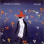 Click here for more info about 'Midge Ure - Answers To Nothing - clear vinyl'
