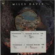 Miles Davis Agharta USA 2-LP vinyl set Promo