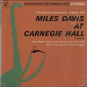 Miles Davis At Carnegie Hall USA vinyl LP