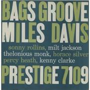 Miles Davis Bags Groove - DG - Washington USA vinyl LP Promo