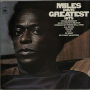 Miles Davis Greatest Hits - graduated orange label UK vinyl LP