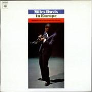 Miles Davis In Europe France vinyl LP
