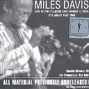 Click here for more info about 'Miles Davis - Live At The Fillmore East - March 7, 1970'