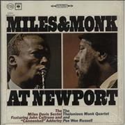 Miles Davis Miles & Monk At Newport - 2 eye USA vinyl LP