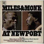Miles Davis Miles & Monk At Newport - VG+/EX- UK vinyl LP