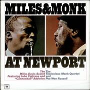 Miles Davis Miles & Monk At Newport USA vinyl LP