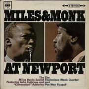 Miles Davis Miles & Monk At Newport UK vinyl LP