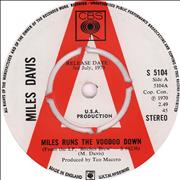 "Miles Davis Miles Runs The Voodoo Down - A Label UK 7"" vinyl Promo"