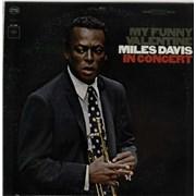 Miles Davis My Funny Valentine - 2 Eye - 360 White USA vinyl LP