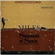 Miles Davis Sketches Of Spain - 'Six Eye' - CBS Overprint USA vinyl LP