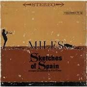 Miles Davis Sketches Of Spain - 'Two Eye' - White 360 USA vinyl LP