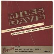 """Miles Davis Solar UK 10"""" vinyl"""