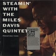 Miles Davis Steamin' With The Miles Davis Quintet - stickered shrink USA vinyl LP